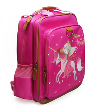 "Load image into Gallery viewer, Magical Unicorn School Backpack for Kids 15"" Perfect for Kindergarten or Elementary with Padded Shoulder Straps - Lightweight, Portable, and Fun"