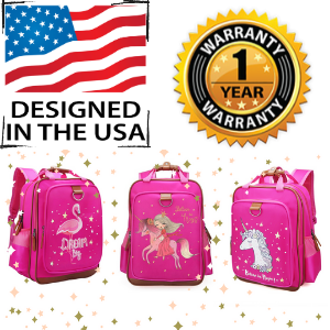 "Mystical Unicorn School Backpack for Kids 15"" Perfect for Kindergarten or Elementary with Padded Shoulder Straps - Lightweight, Portable, and Fun"