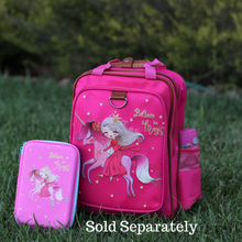 "Load image into Gallery viewer, Unicorn School Backpack for Kids 15"" Perfect for Kindergarten or Elementary with Padded Shoulder Straps - Lightweight, Portable, and Fun"