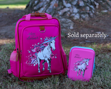 "Load image into Gallery viewer, Mystical Unicorn School Backpack for Kids 15"" Perfect for Kindergarten or Elementary with Padded Shoulder Straps - Lightweight, Portable, and Fun"