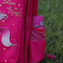 "Flamingo School Backpack for Kids 15"" Perfect for Kindergarten or Elementary with Padded Shoulder Straps - Lightweight, Portable, and Fun"
