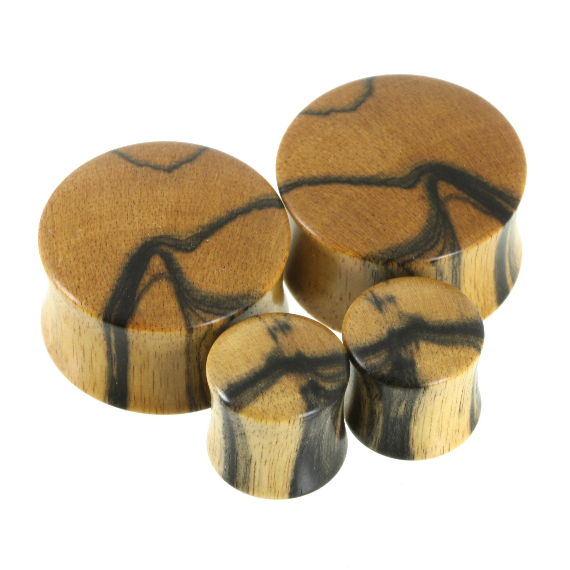 Black & White Ebony Plugs | Standard Grade, jewellery, body jewellery. - Southshore Adornments