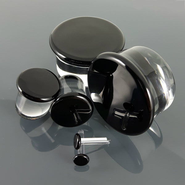 Glasswear Studios Single-Flared Plugs - Black | 1 Piece,  - Southshore Adornments