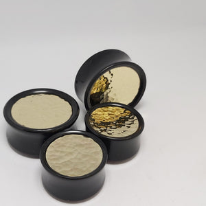 Delrin Plugs - Hammered Brass
