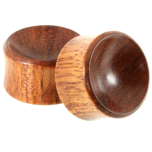 Bloodwood Bowl Plugs, jewellery, body jewellery. - Southshore Adornments