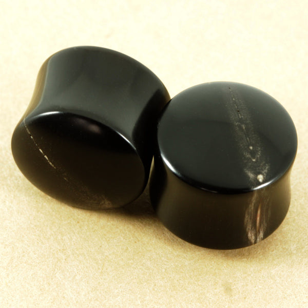 Buffalo Horn Plugs, jewellery, body jewellery. - Southshore Adornments