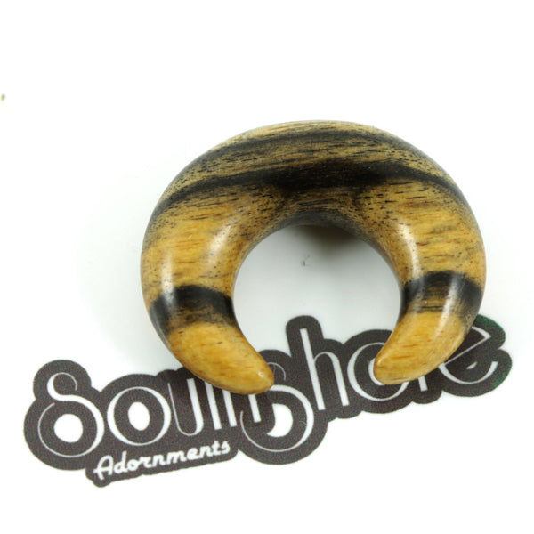 Black & White Ebony Crescent | 1 Piece, jewellery, body jewellery. - Southshore Adornments