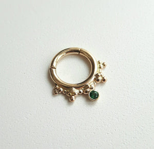 Caleigh Green 14k Yellow Gold Clicker 1.6mm (14g)