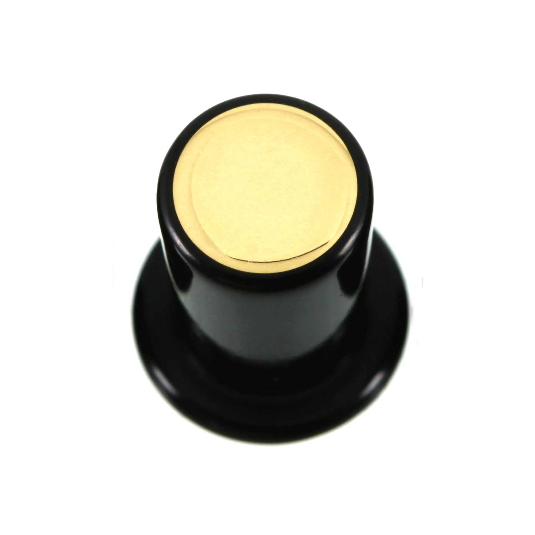 Delrin Philtrum Plug - Flush Brass Inlay