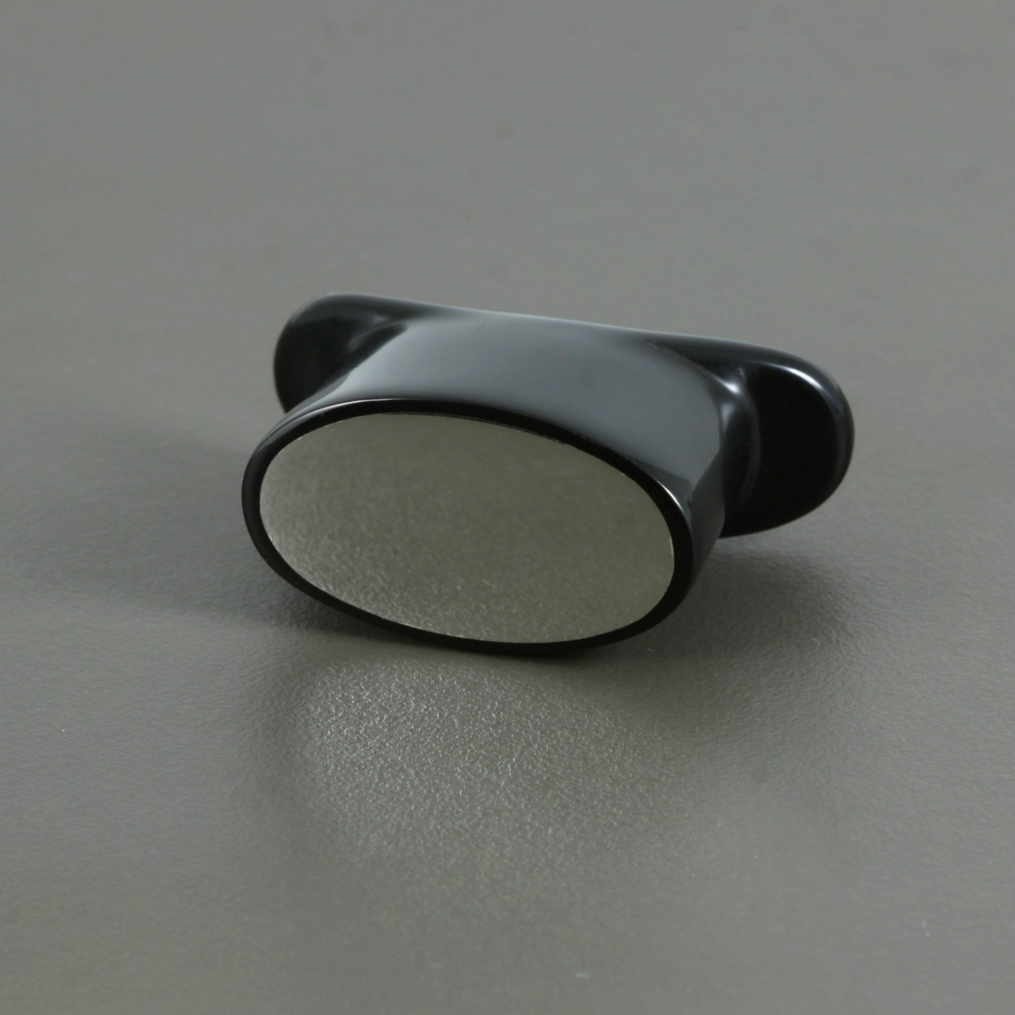 Delrin Oval Labret Plug - Flush Sterling Silver Inlay