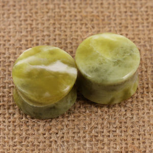 "Iona Green Marble Plugs | 19mm (3/4"")"