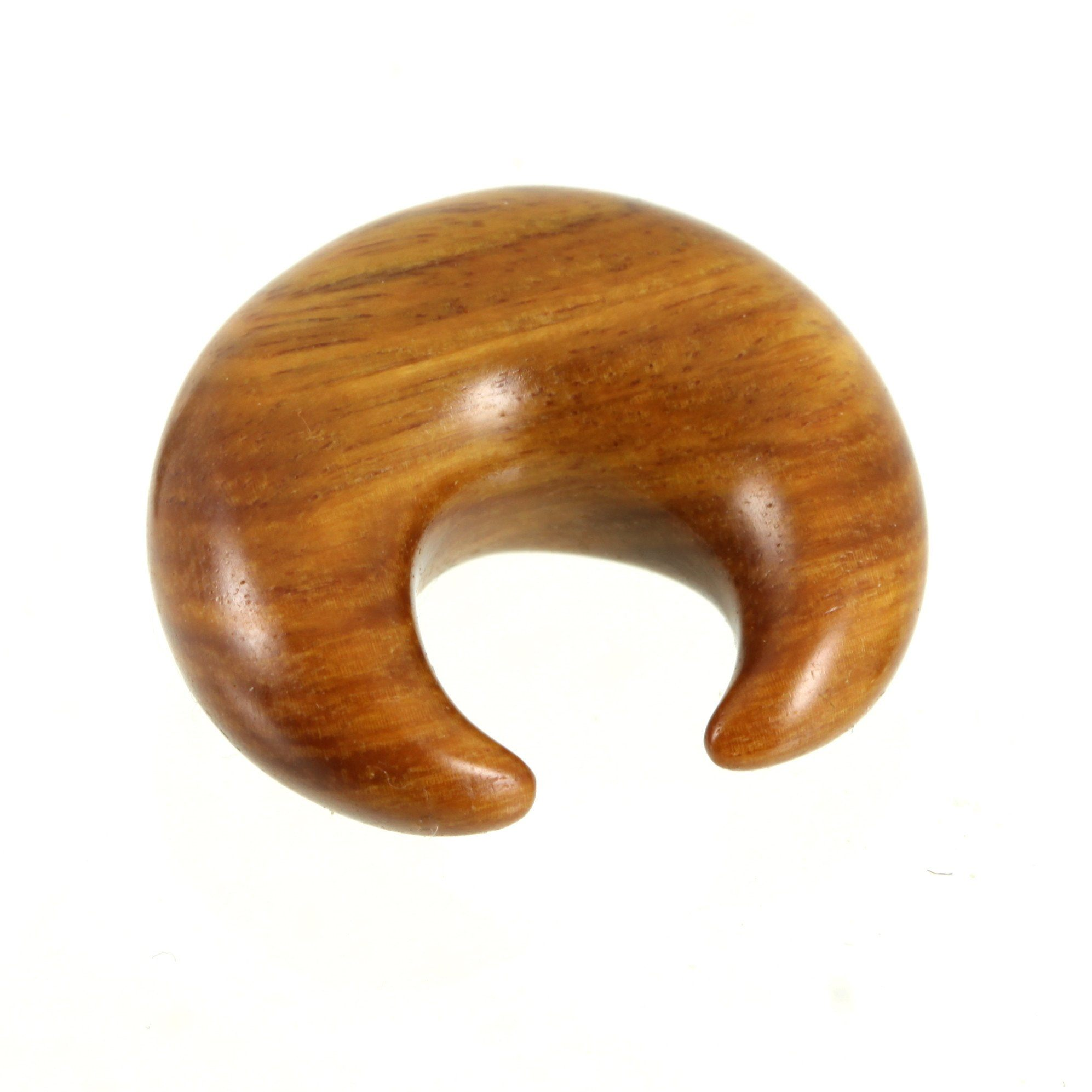 Argentine Lignum Vitae Crescent | 1 piece, jewellery, body jewellery. - Southshore Adornments
