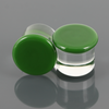 Single Flare Glass Plugs - Opaque Green | 1 Piece