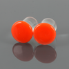 Single Flare Glass Plugs - Orange | 1 Piece