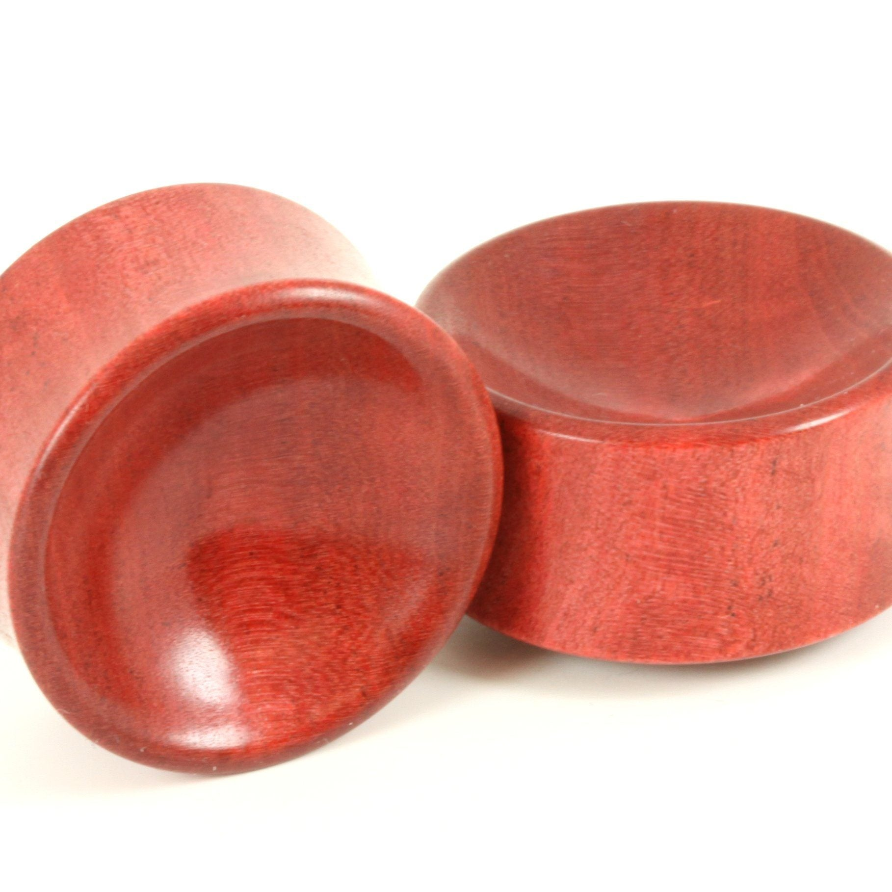 Pink Ivory Bowl Plugs, jewellery, body jewellery. - Southshore Adornments