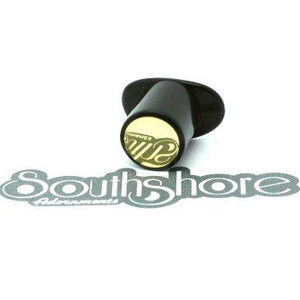 Delrin Round Labret Plug - Flush Brass Inlay, jewellery, body jewellery. - Southshore Adornments