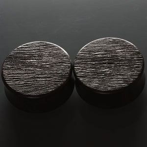 Ebony Texture plugs, jewellery, body jewellery. - Southshore Adornments