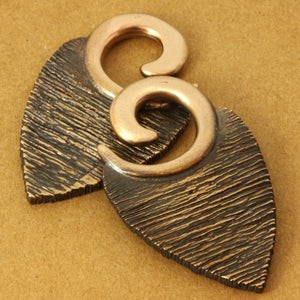 Texture Leaf Ear Weights | Bronze Southshore - 3