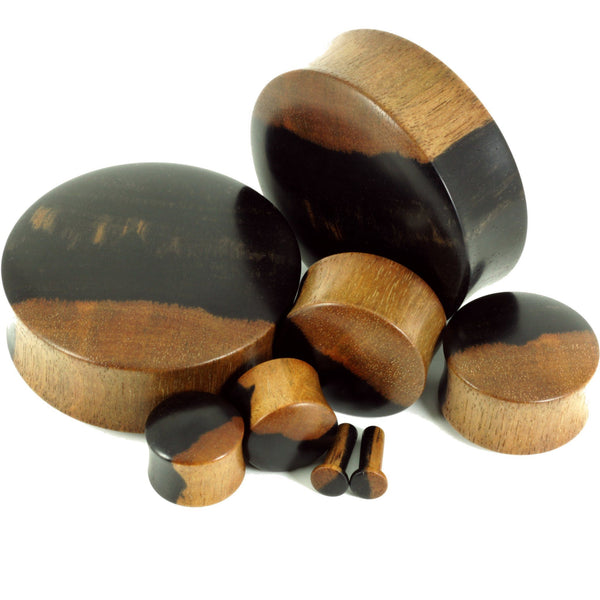 Two-Tone Ebony plugs,  - Southshore Adornments