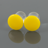 Single Flare Glass Plugs - Lemon | 1 Piece