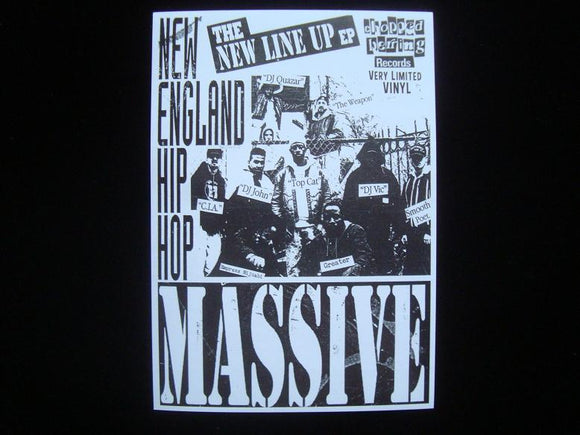New England Hip Hop Massive - The New Line Up EP Sticker