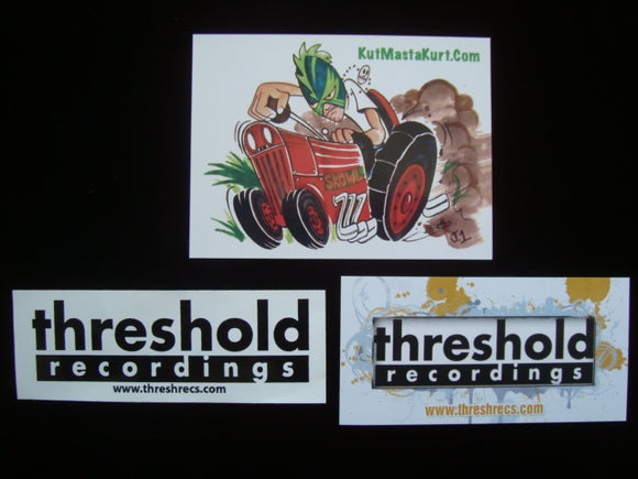 Kut Masta Kurt & Threshold Records Stickers