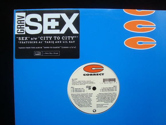Grav ‎– Sex - City To City (12