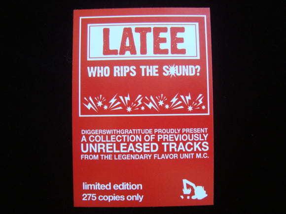 Latee - Who Rips The Sound? EP Sticker