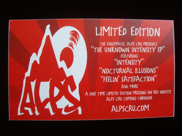 Alps Cru ‎– The Unknown Intensity EP Sticker