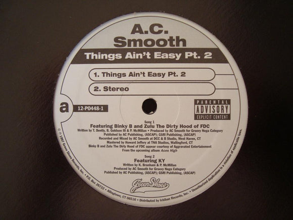 A.C. Smooth - Things Ain't Easy (12