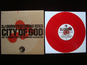 "DJ Doom ‎– City Of God - Transmitting Live (10"")"