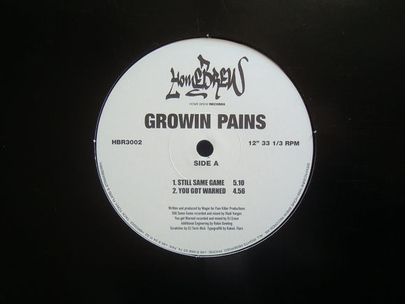 Growin Pains ‎– Still Same Game (12