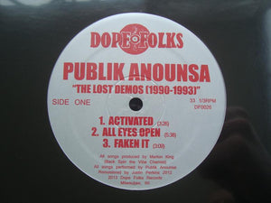 Publik Anounsa ‎– The Lost Demos (1990-1993) (EP)