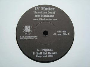 "12"" Matter ‎– Sunshine Coast (7"")"
