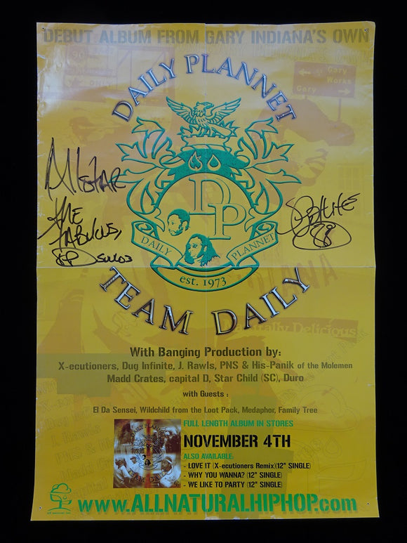 Daily Plannet - Team Daily Release Poster (signed!)