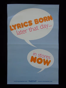 Lyrics Born  - Later That Day Release Poster