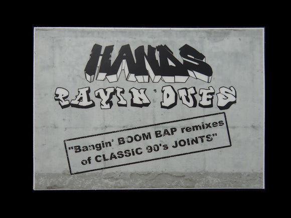 Hands ‎– Payin' Dues LP Sticker