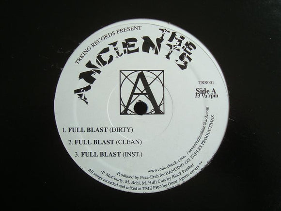 Ancients ‎– Full Blast (12