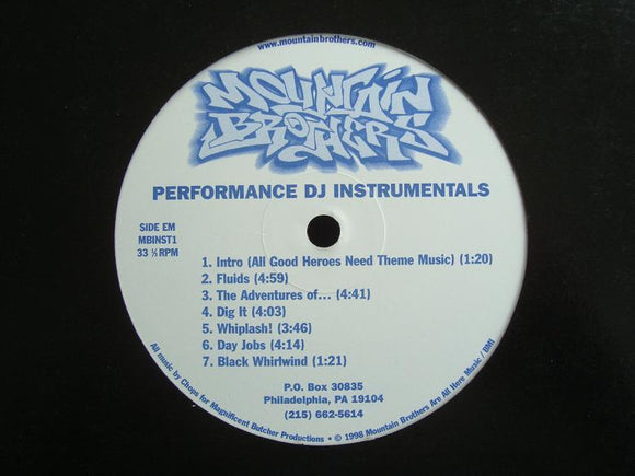 Mountain Brothers ‎– Performance DJ Instrumentals (LP)