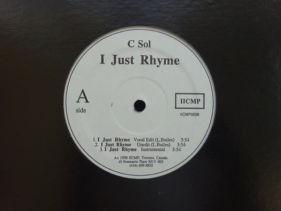 C Sol ‎– I Just Rhyme /No Trust (12