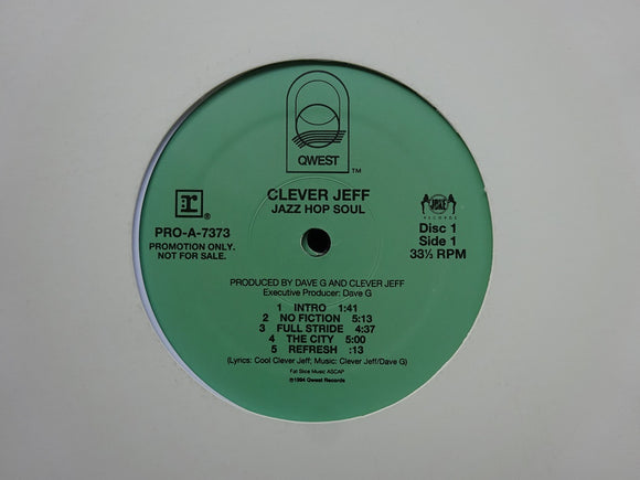 Clever Jeff ‎– Jazz Hop Soul (2LP)