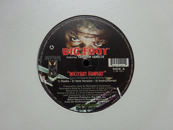 Big Foot ‎– Military Kombat / Bring It (12