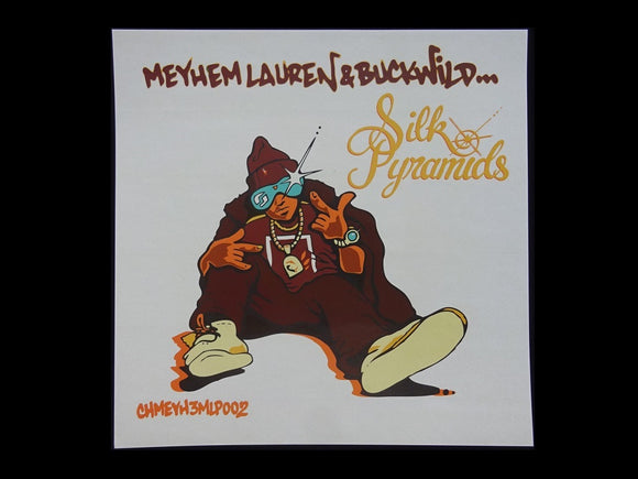 Meyhem Lauren & Buckwild ‎– Silk Pyramids LP Sticker
