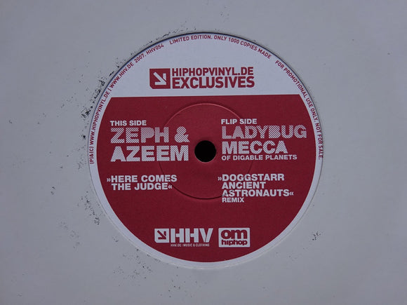 Zeph & Azeem / Ladybug Mecca ‎– Here Comes The Judge / Doggstarr (Remix) (7