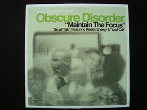 "Obscure Disorder – Maintain The Focus (12"")"