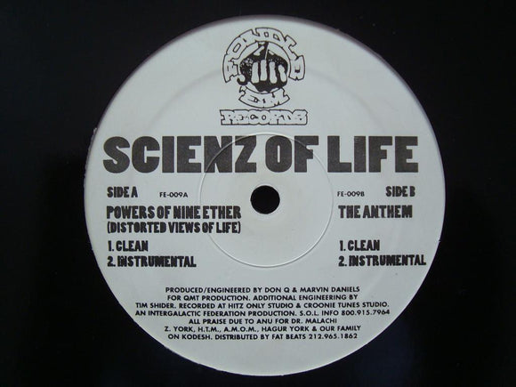 Scienz Of Life - Powers Of Nine Ether / The Anthem (12