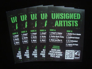 Unsigned Artists EP Stickers