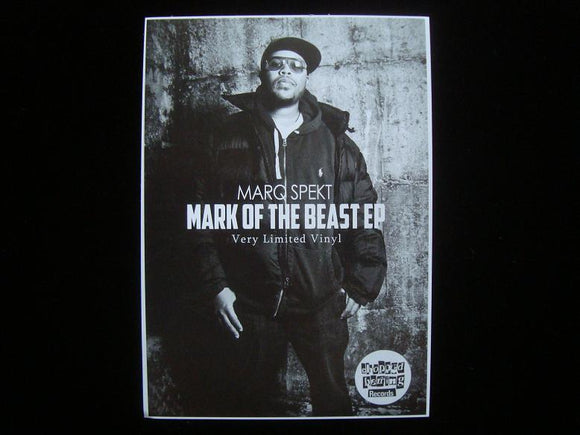 MarQ Spekt ‎– Mark Of The Beast EP Sticker