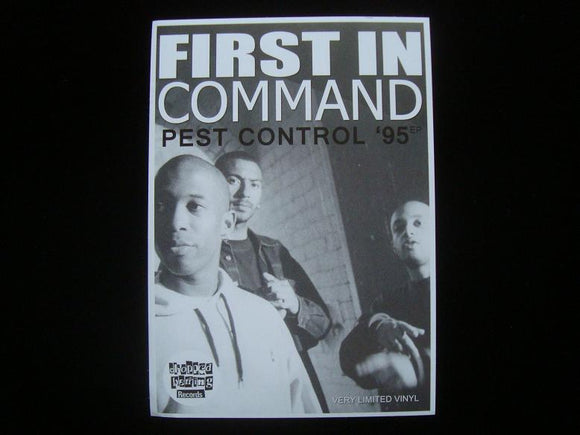 First In Command‎ – Pest Control '95 EP Sticker