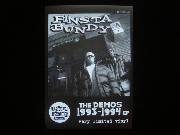Finsta Bundy ‎– The Demos 1993-1994 EP Sticker
